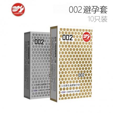 超薄体贴-倍力乐-倍力乐 002天然胶乳避孕套 中号 10只装