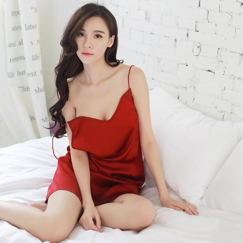 性感裙装-NIGHT FIRE 夜火-NIGHT FIRE夜火蕾丝情趣内衣透明性感薄纱睡衣美背情趣 红色