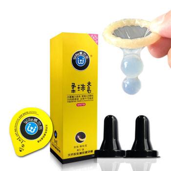 螺纹刺激-威尔乐-威尔乐 柔珠SPA避孕套(双珠)中号 3只装/盒