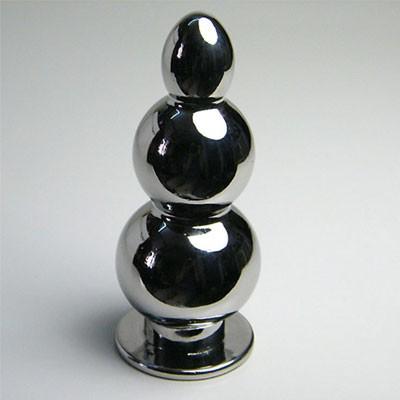后庭肛塞--金葫芦--不锈钢重型金属肛栓(黑帝)